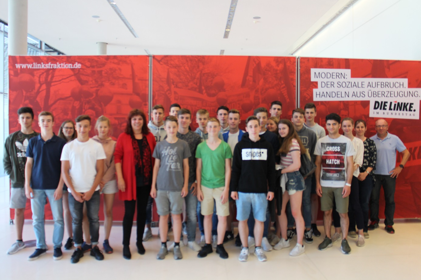 Besuchergruppe des Max-Planck-Gymnasiums Trier